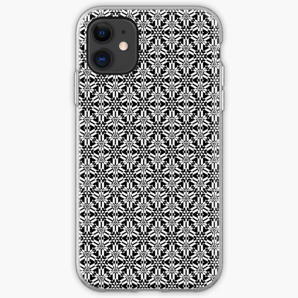 Beautiful Black and White Pattern iPhone Soft Case