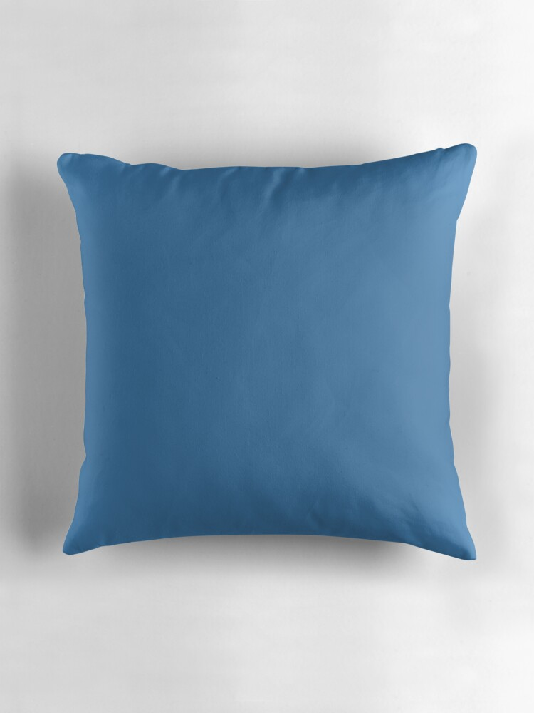 Steel Blue Throw Pillows :