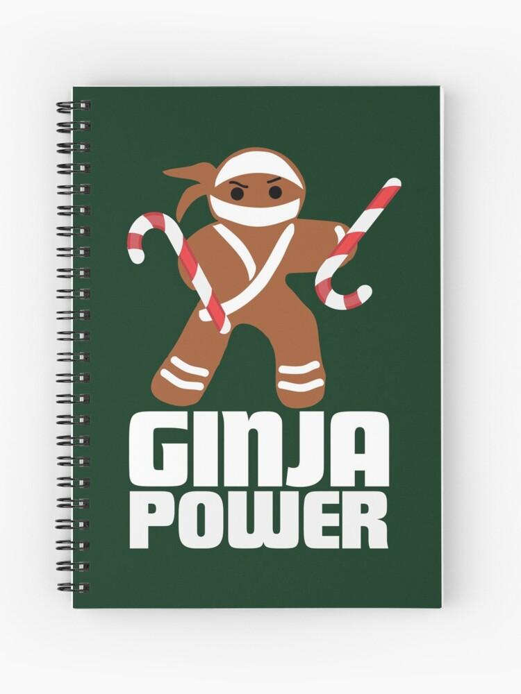Baking Ninjas Christmas Cookies Gingerbread Christmas T Shirts Gifts Spiral Notebook