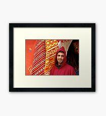 Moroccan shopkeeper Framed Print