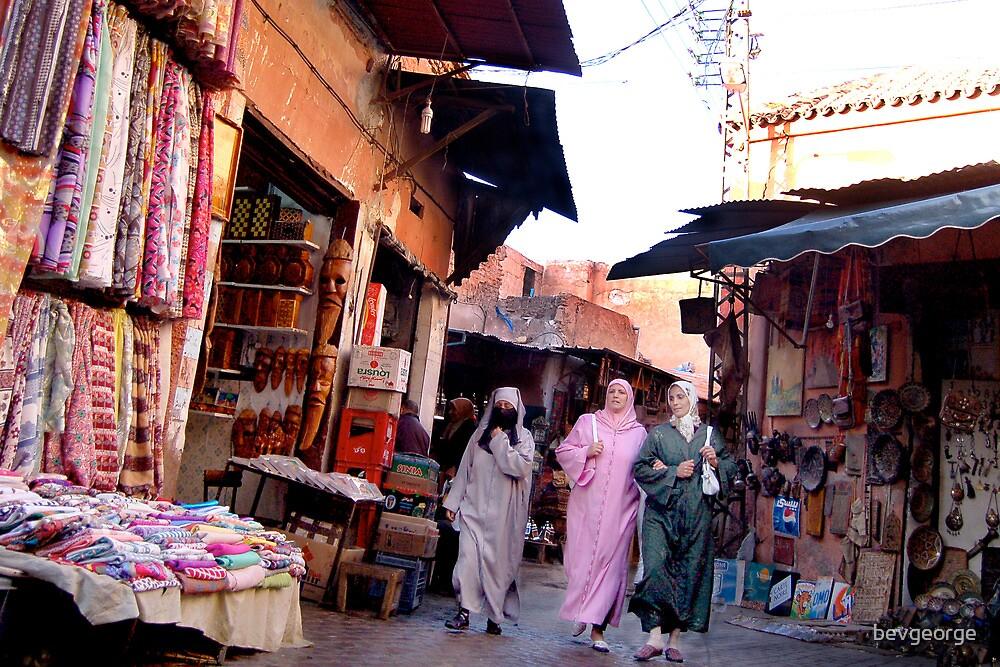 Souk in Marrakesh by bevgeorge