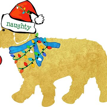 Naughty But Nice Christmas Goldendoodle by emrdesigns