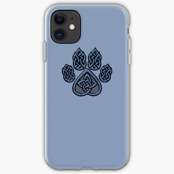 Celtic Knot Pawprint - Blue iPhone Soft Case