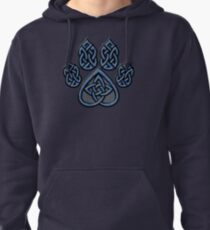Celtic Knot Pawprint - Blue Pullover Hoodie