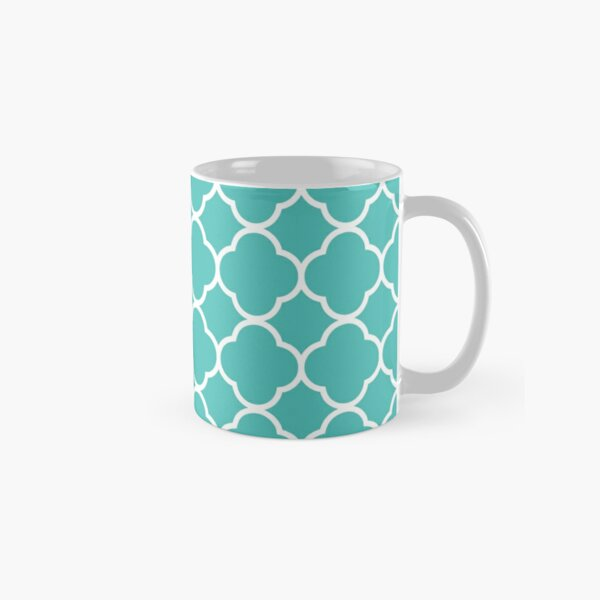 Teal Arc Pattern Classic Mug