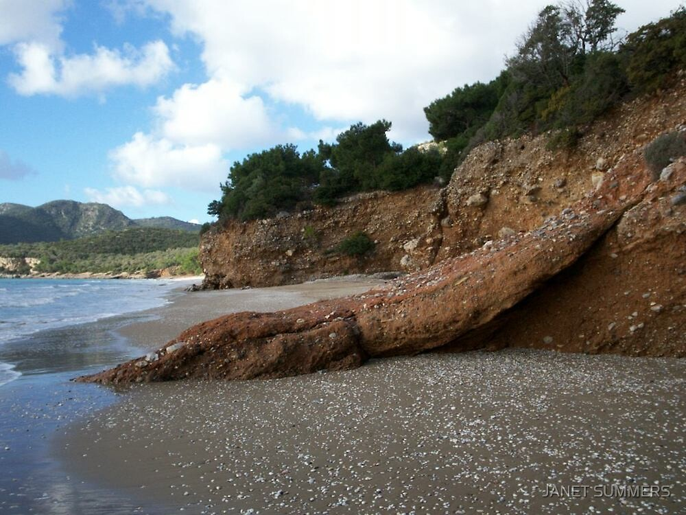 Psili Ammos, Samos by JANET SUMMERS