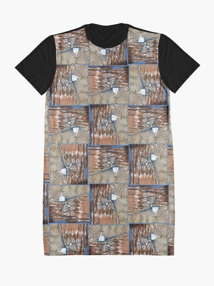 Alternate view of Swanning it Graphic T-Shirt Dress