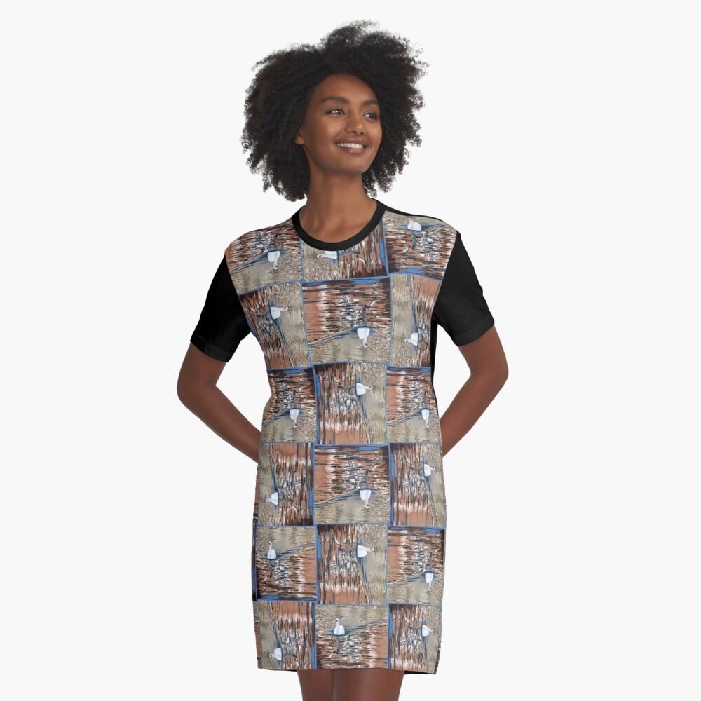 Swanning it Graphic T-Shirt Dress