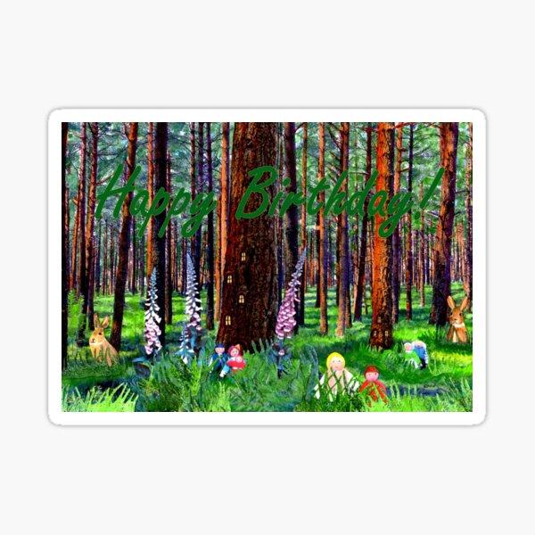 Children's Birthday Card - Weenies of the Wood Sticker
