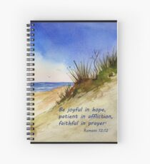 Heavenly Counsel- Romans 12:12 Spiral Notebook