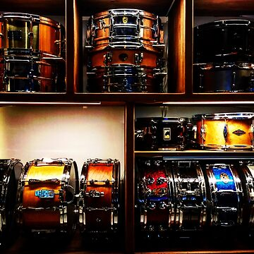Pretty Snare Drums All In A Row by douglasewelch