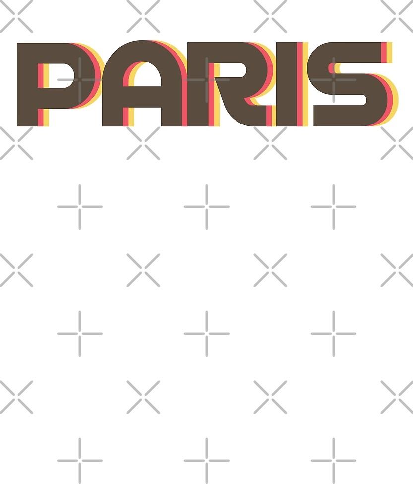 Retro Paris T-Shirt by designkitsch