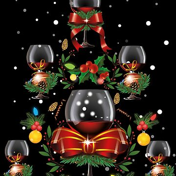 Christmas Wine - Christmas Wine Tree by edgyshop