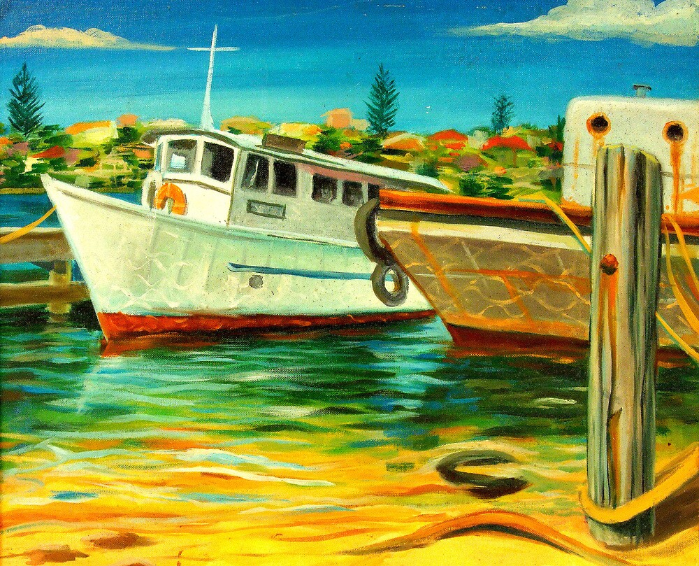 OLD BOATS, FREMANTLE, W.A., 1999 by HAMISH CUMING