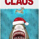 Funny Christmas Santa Claus Shark Reindeer Humor by emkayhess