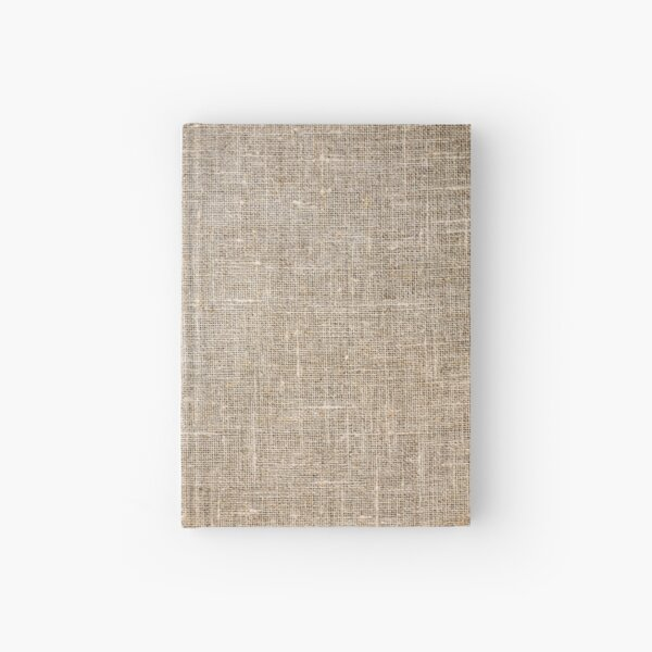 Burlap Style Pattern Hardcover Journal