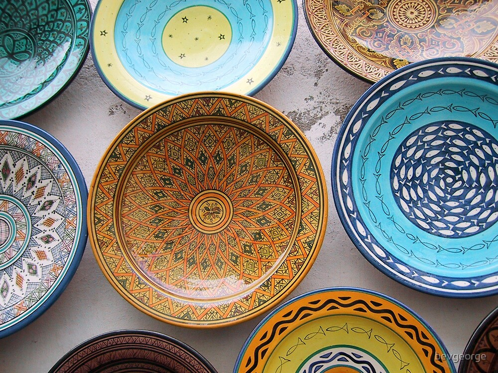 Moroccan Coloured Bowls by bevgeorge