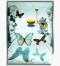 ALLEGORIE DE SOIE: Vintage 1950 Dali Schmetterling drucken Poster