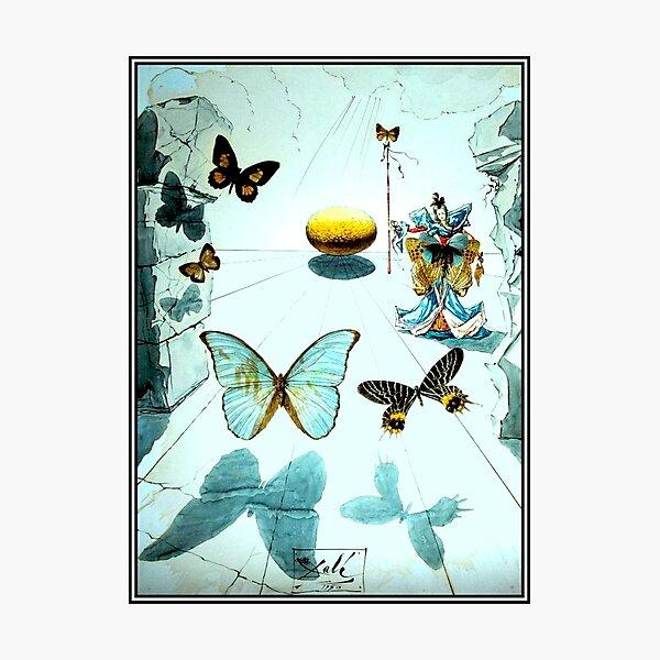 ALLEGORIE DE SOIE : Vintage 1950 Dali Butterfly Print Photographic Print