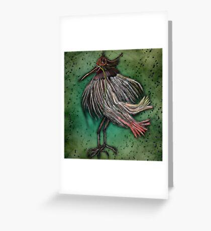 Blind Bird Greeting Card