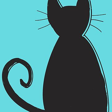 Patrón de silueta de gato de DanaAndTheBooks