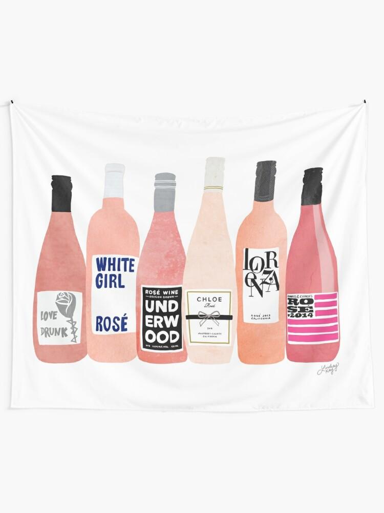 Alternate view of Rose Bottles Tapestry