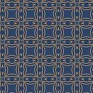 Golden Pattern on Royal Blue by livejoytoday