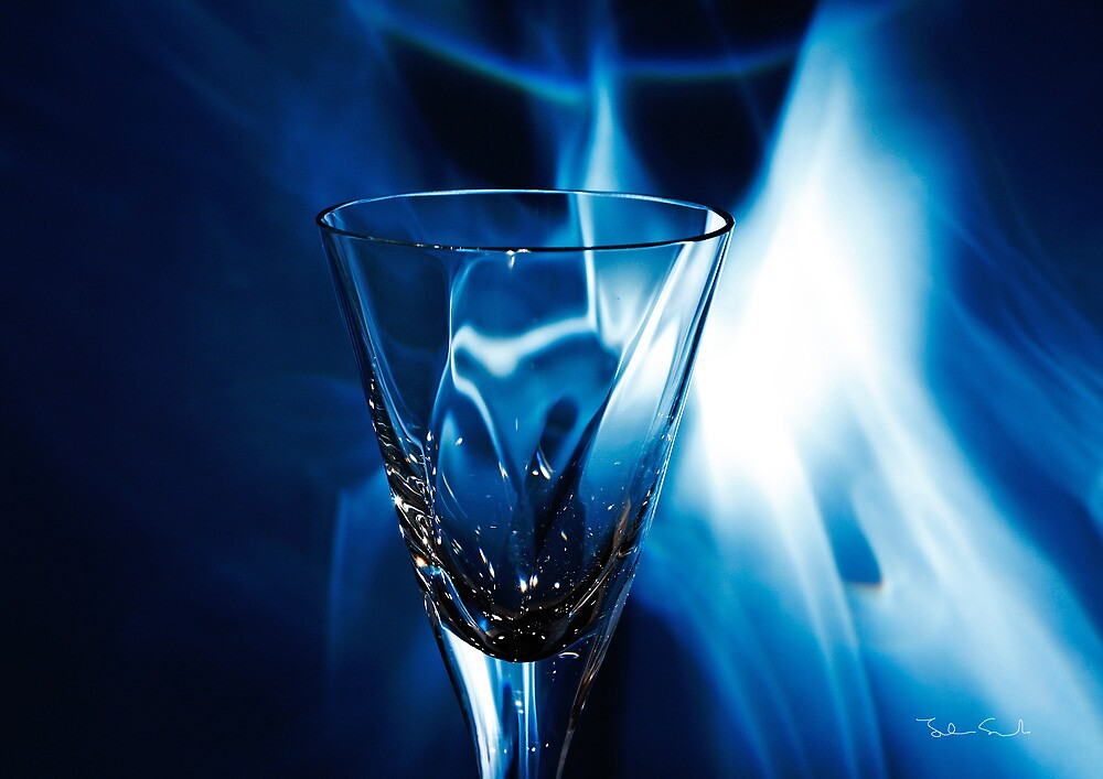 schnapps glass light effects #3 by John Svensk