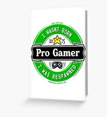 Pro Gamer Greeting Card