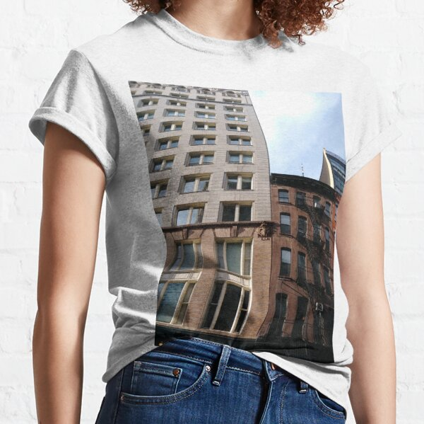#architecture #window #city #apartment #office #modern #house #business #sky #facade #outdoors #balcony #vertical #colorimage Classic T-Shirt