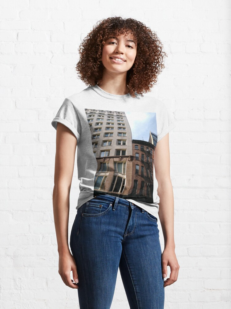 Alternate view of #architecture #window #city #apartment #office #modern #house #business #sky #facade #outdoors #balcony #vertical #colorimage Classic T-Shirt