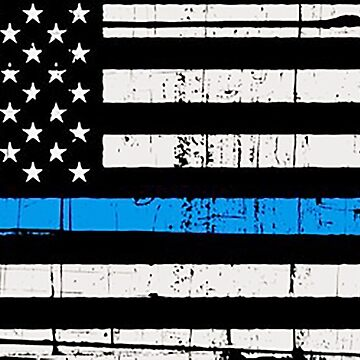 American Flag Thin Blue Line weathered  by thatstickerguy