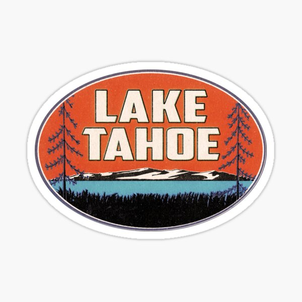 Lake Tahoe California Nevada Ski Boating Skiing Boat Sticker
