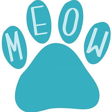 Cat Paw Meow Teal de DanaAndTheBooks
