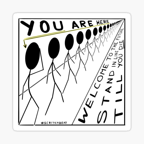 You are here... Sticker