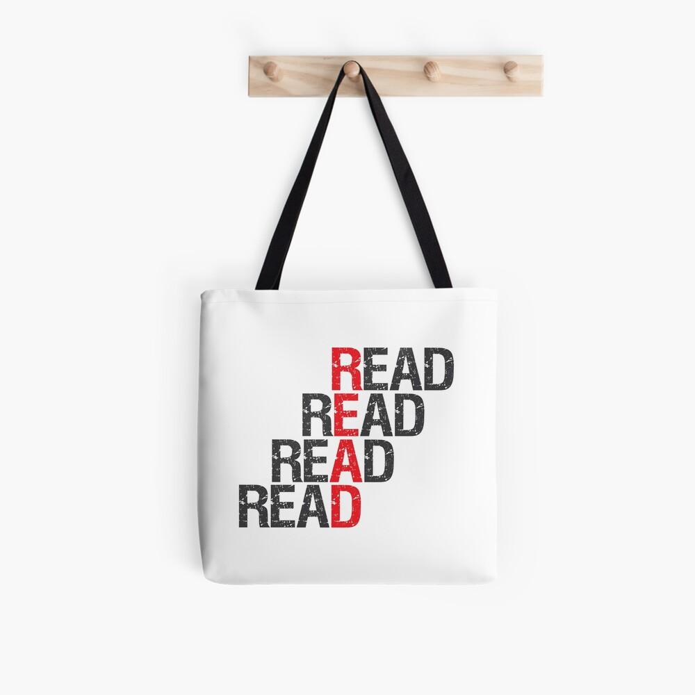 Read Read Read Read Tote Bag