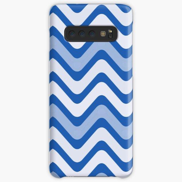 White, Dark Blue and Light Blue Wave Pattern Samsung Galaxy Snap Case