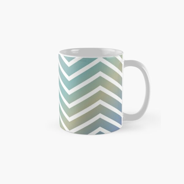 Pastel Multi-Color ZigZag Pattern Classic Mug