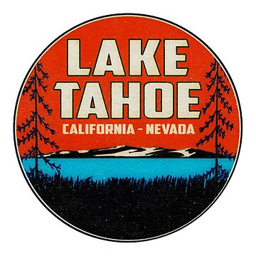 Skiing Lake Tahoe California Ski Snowboard Hiking Boating Blue by MyHandmadeSigns