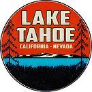 Skiing Lake Tahoe California Ski Snowboard Hiking Boating Blue by MyHandmadeSigns