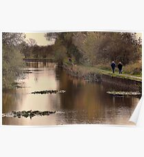 Crowded Towpath Poster