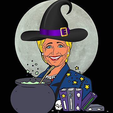 Hillary Clinton Wicked Witch Halloween T-Shirt Democrats Republicans Liberals Conservatives by JollyKRogers