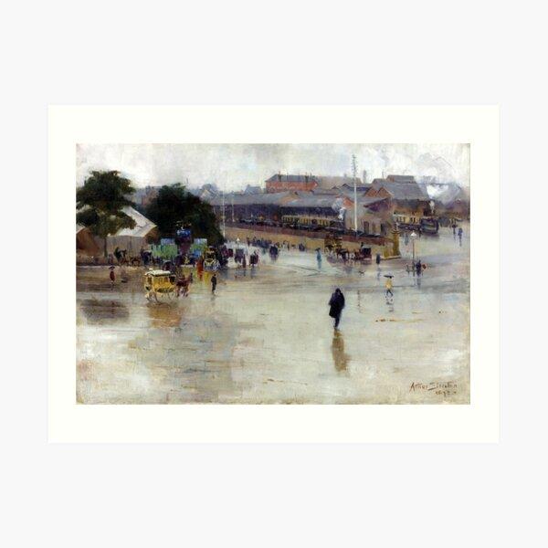 Arthur Streeton The Railway Station, Redfern Art Print
