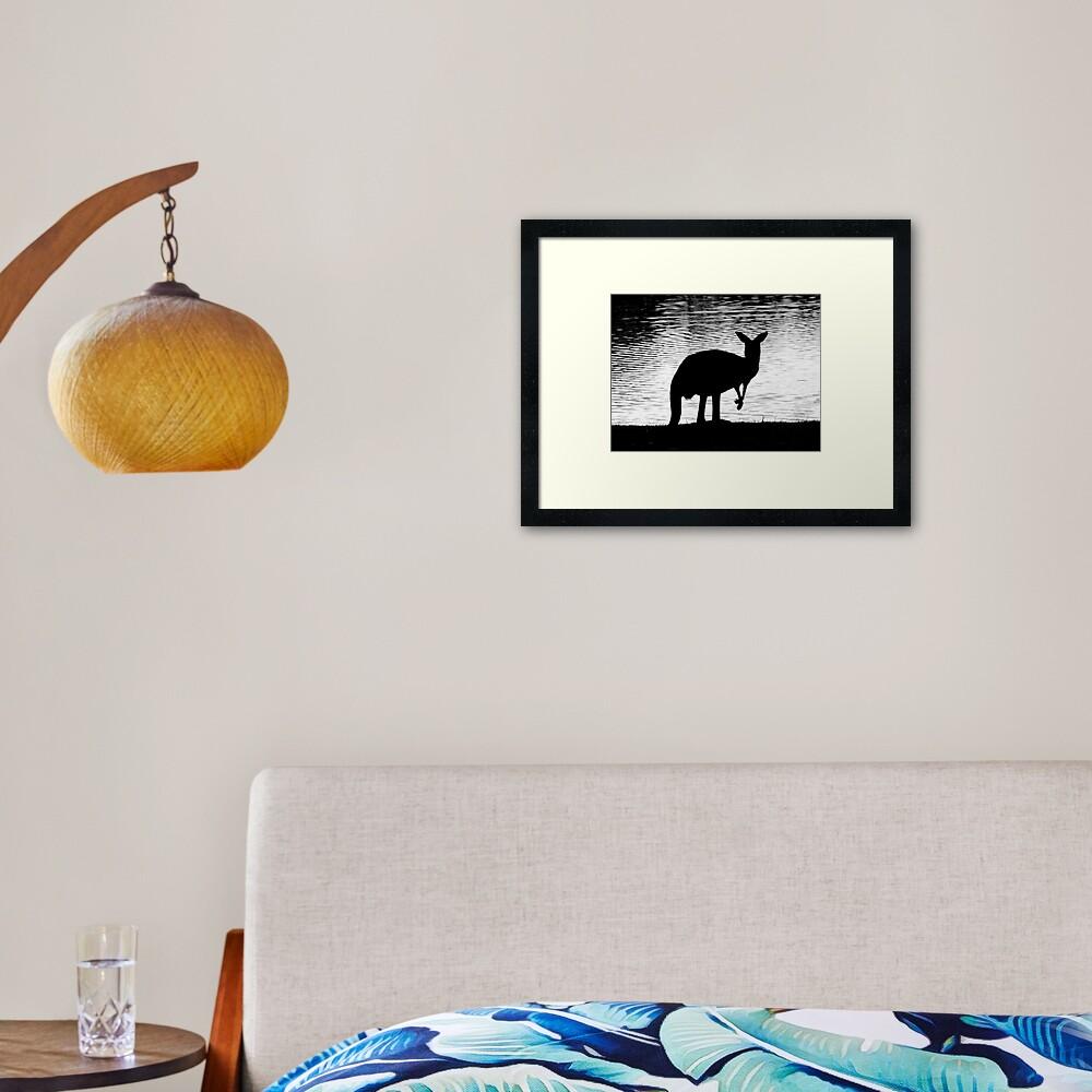Little Roo'd Framed Art Print