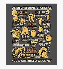 Alien Statistics Photographic Print