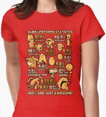 Alien Statistics Womens Fitted T-Shirt