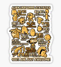 Alien Statistics Sticker