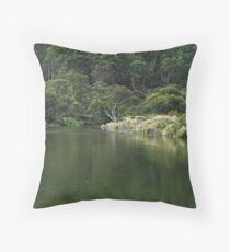 Thredbo River - reflections. Throw Pillow