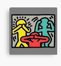 Logo Keith Haring Canvas Print