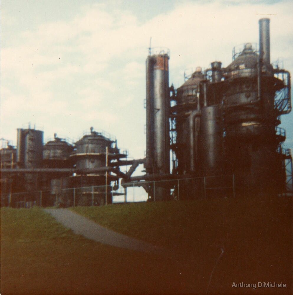 the old gasworks in Seattle by Anthony DiMichele